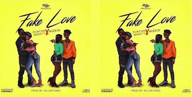 <h3>LISTEN: DUNCAN MIGHTY X WIZKID – FAKE LOVE</h3><br />Duncan Mighty is back and he returns with Wizkid – collaboration titled 'Fake Love' It is a jam and half with is produced by the rave of the moment – Killertunes.