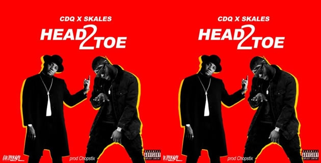 "<h3>LISTEN TO CDQ – SKALES – CHOPSTIX'S 'HEAD 2 TOE'</h3><br />The Nigerian born international sensational rapper ""CDQ"" therefore decided to team up with SKALES and CHOPSTIX to make a real quick quality Hip-Hop Jam for their fans. The song is titled ""Head2Toe""..."