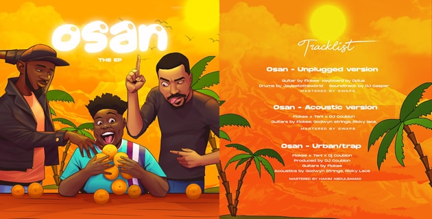 AFROBEATS FINEST GUITARIST FIOKEE TEAMS UP WITH TENI AND DJ COUBLON FOR 'OSAN,' WATCH HERE